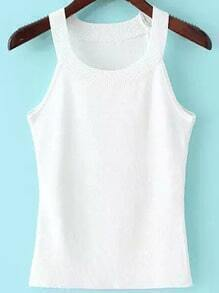 White Woman Sweater Cami Top