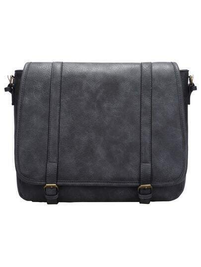 Grey Magnetic Flap Over Saddle Bag