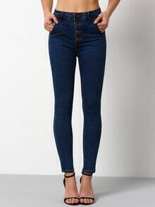 Navy Skinny High Waist Denim Pant