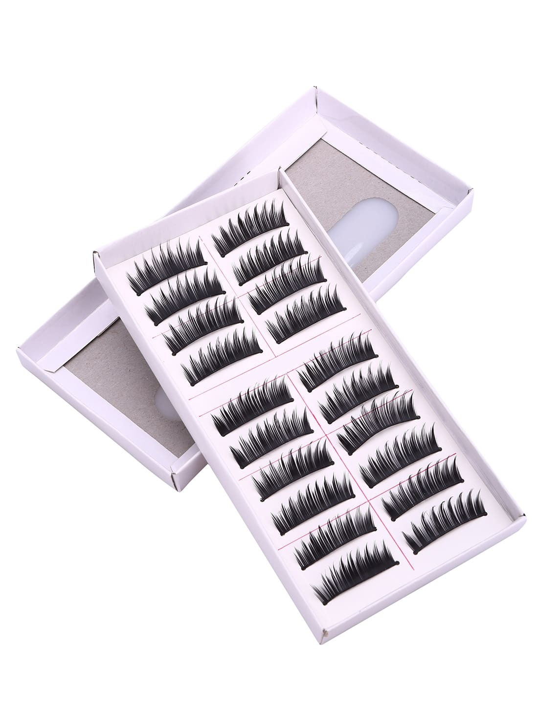 10 Pairs Thick Black False Eyelashes