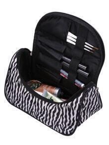 Zebra Zipper Makeup Bag