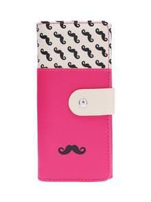 Smooth PU Leather Mustache Wallet
