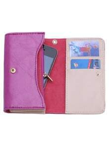 Purple Large Capacity Multi-use Casual Wallet