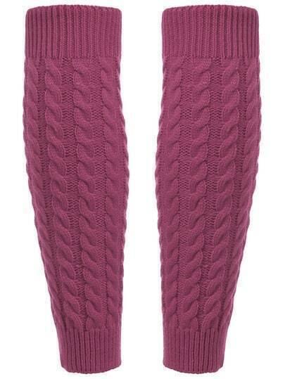 Knitting Pattern For Leg Socks : Leg Warmers Knitting Crochet Socks -SheIn(Sheinside)