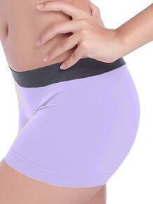 Light Purple Sports Elastic Skinny Yoga Shorts