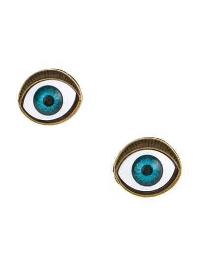 Blue Eyes Stud Earrings