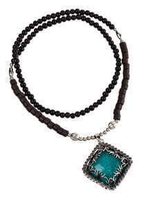 Green Diamond Pendant Necklace