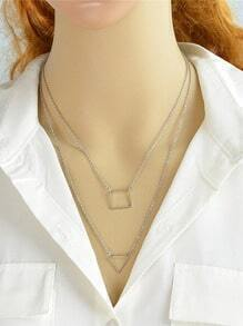 Silver Plated Double Layers Necklace