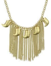 Punk Rock Gold Tassel Necklace