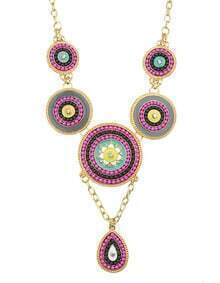 Hotpink Beads Collar Necklace
