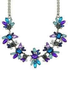 Rhinestone Flower Shourouk Necklace
