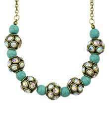 Blue Beads Collar Necklace