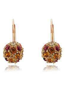 Gold Plated Crystal Ball Earrings