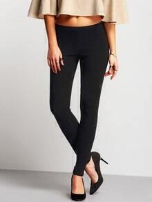 Black Low Waist Pockets Skinny Pant