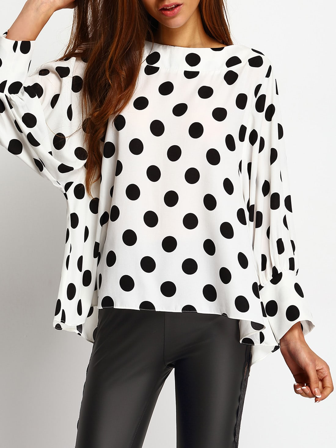 Polka Dots Blouses Shirts Tops