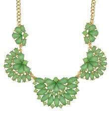 Green Gemstone Collar Necklace