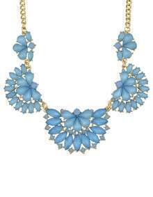 Blue Gemstone Collar Necklace