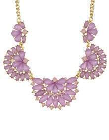 Purple Gemstone Collar Necklace