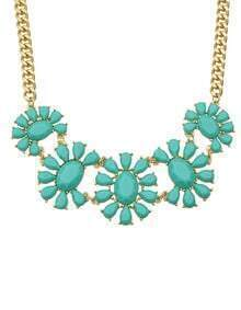 Green Gemstone Collar Necklace