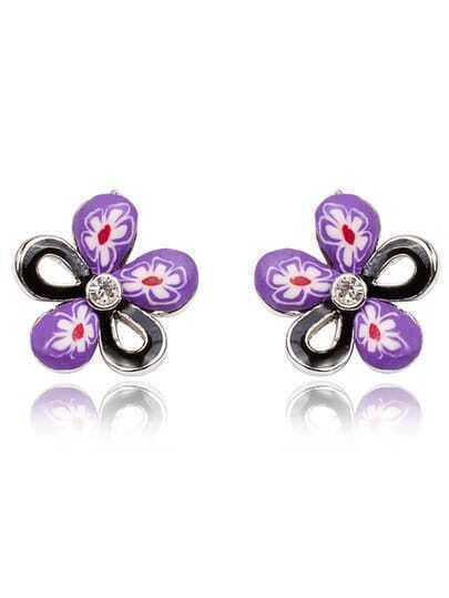 Flower Crystal Stud Earrings