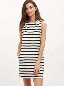 Breton Striped Sleeveless Shift Dress