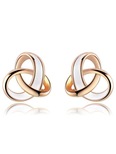 Gold Glaze Fashion Stud Earrings