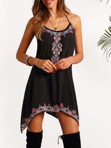 Cami Straps Embroidered Dress