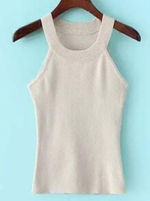 Apricot Strap Slim Sweater Cami