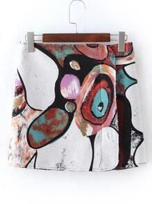Multicolor Tribal Print Skirt