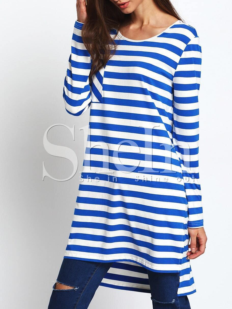 Gedtreiftes kleid mit seitlichem schlitz vorne kurz hinten - Kleid lang mit schlitz ...