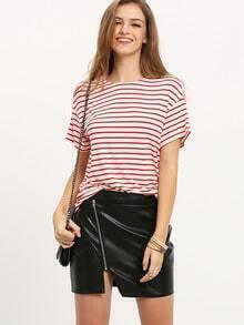 High Waist Asymmetrical Bodycon Skirt