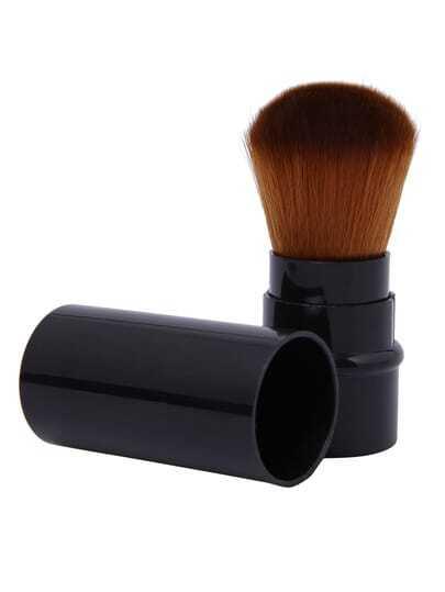 Black Retractable Blush Makeup Brush