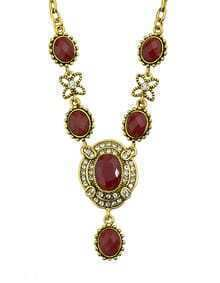 Red Gemstone Women Necklace