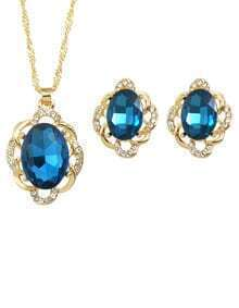 Blue Pearl Jewelry Set