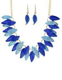 Blue Gold Plated leaves Sets