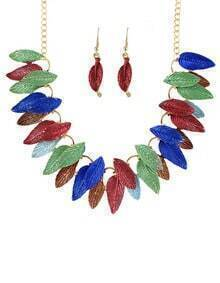 Colorful Gold Plated leaves Sets
