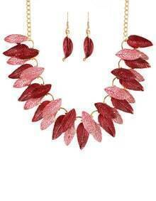 Red Gold Plated leaves Sets