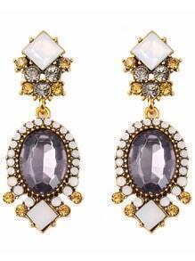 Crystals Gemstone Earrings