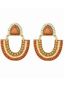 Kahki Beaded Boho Earrings