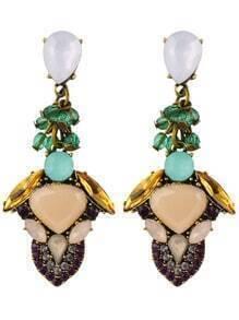 Drop Gemstone Earrings
