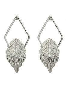 Silver Plated Leaf Stud Earrings