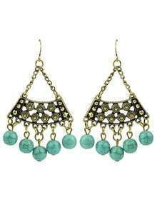 Turquoise Big Chandelier Earrings