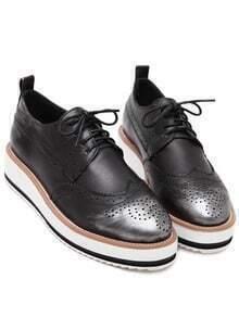 chaussure à lacets -blanc
