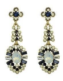 Gold Flower Water Drop Earrings