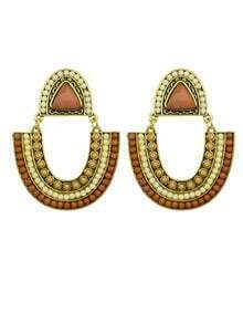 Coffee Bead Dangle Earrings