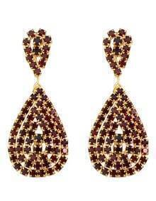 Red Rhinstone Drop Earrings