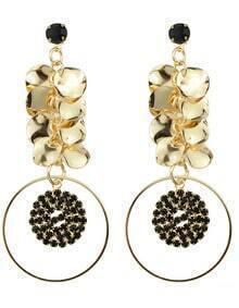 Metal Geometric Dangle Earrings