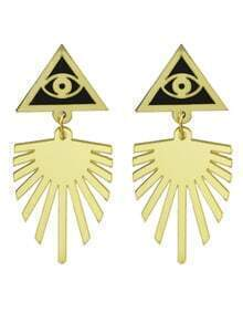 Eye Triangle Geometric Dangle Earrings