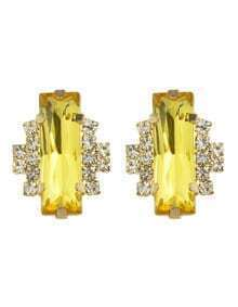 Yellow Graceful Vivid Stud Earring