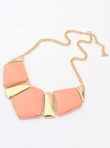 Orange Geometric Gemstone Necklace